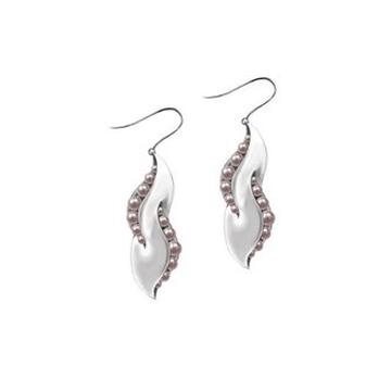 月光珍珠淡水珍珠耳飾