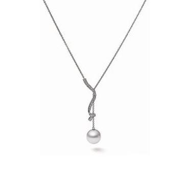 月光珍珠精品线条珍珠项链
