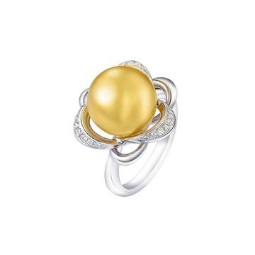 月光珍珠康乃馨珍珠戒指