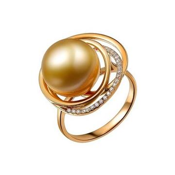 月光珍珠时尚华贵珍珠戒指