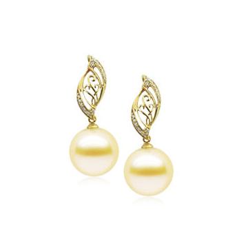 月光珍珠时尚精美珍珠耳坠