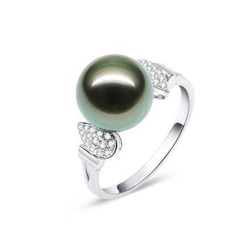 月光珍珠时尚精美珍珠戒指