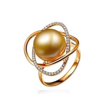 月光珍珠时尚精品华贵珍珠戒指