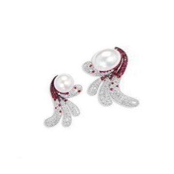 月光珍珠时尚珍珠耳饰