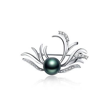 月光珍珠时尚珍珠胸针