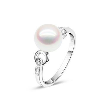 月光珍珠优雅珍珠戒指