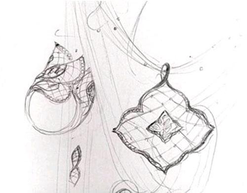 琥珀珠宝手绘设计图