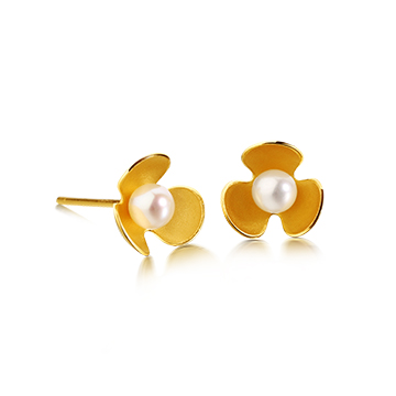 千叶珠宝ingold系列耳钉
