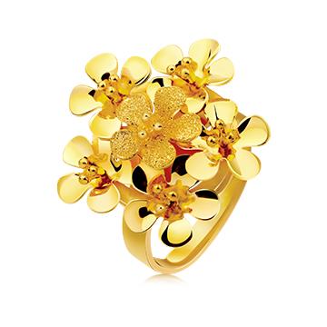 千叶珠宝花瓣系列戒指