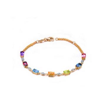和叶珠宝彩虹彩宝手链