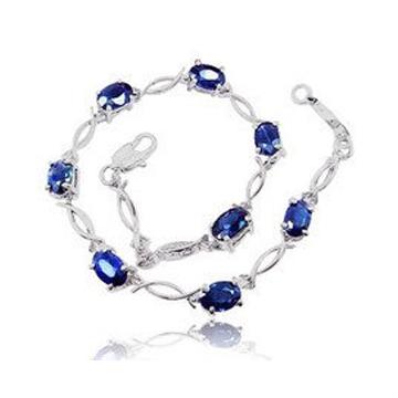 和叶珠宝蓝宝石手链