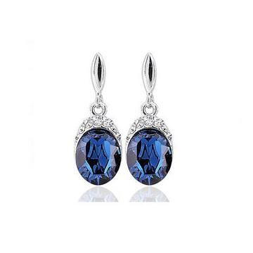 和叶珠宝天然蓝宝石耳坠