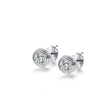 carmia珠宝简约钻石耳钉
