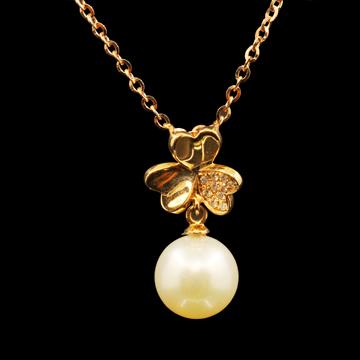 富沃斯珠宝珍珠吊坠金项链