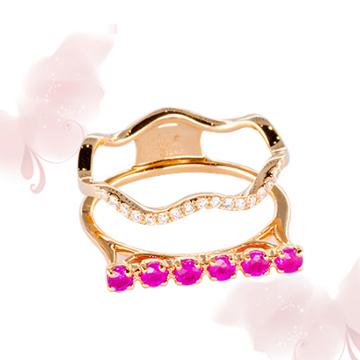 富沃斯珠寶紅寶石金戒指