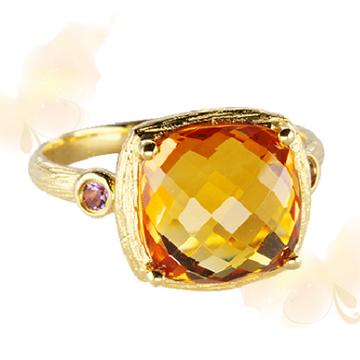 富沃斯珠宝黄晶戒指