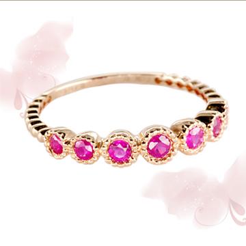 富沃斯珠宝金AU750红宝石戒指
