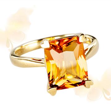 富沃斯珠宝金AU750黄晶戒指