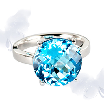 富沃斯珠宝金AU750托帕石戒指