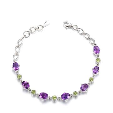 �y�美天然紫晶手�