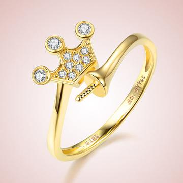 芭萝莉珠宝18K黄金钻石戒指