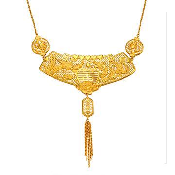香港珠宝精致黄金项链