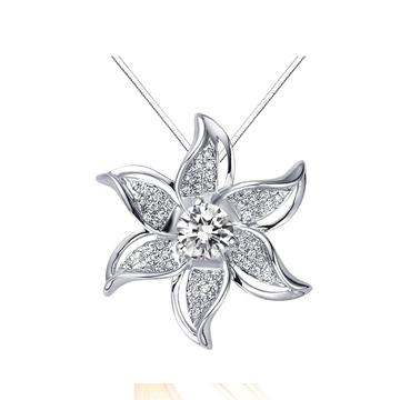 中国金行花型钻石吊坠