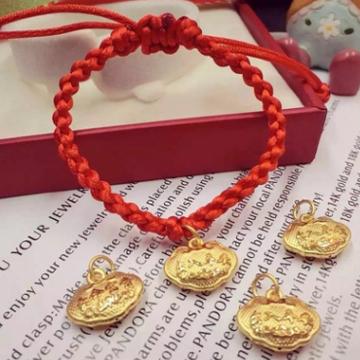 大熊珠宝3D硬金黄金婴儿手链