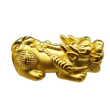 大熊珠宝999足金黄金貔貅手链