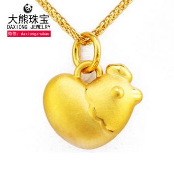 大熊珠宝爱心鸡-心形生肖鸡吊坠