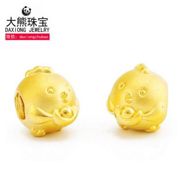 大熊珠宝黄金生肖鸡手链