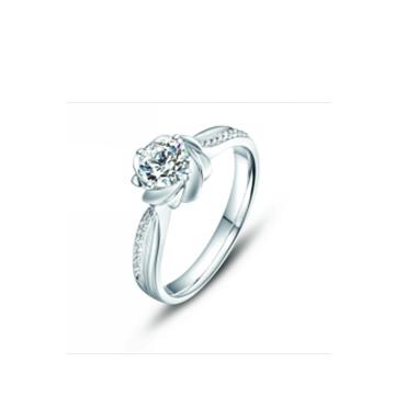 壹爱钻石戒指花好月圆