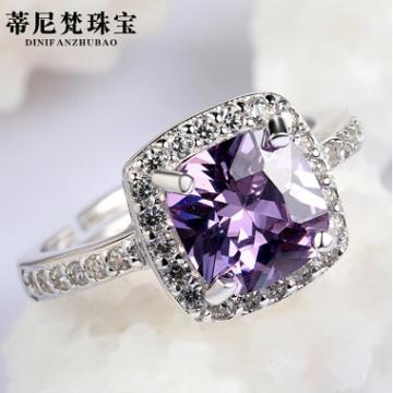 蒂尼梵珠宝锆石情侣求婚戒指