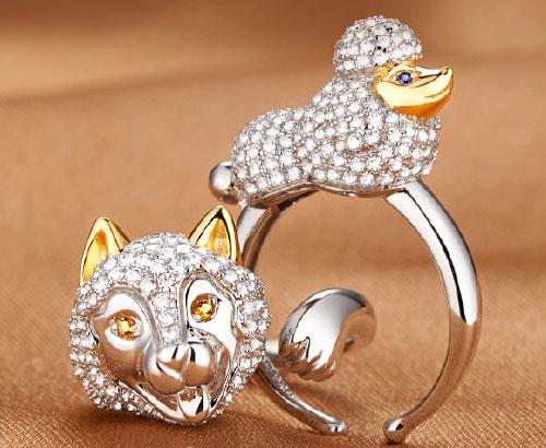 萌化人心的小动物戒指