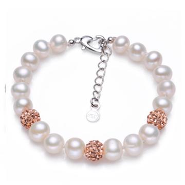 紫月珍珠淡水珍珠手链