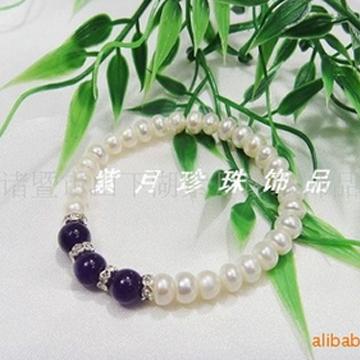 紫月珍珠时尚女式珍珠手镯