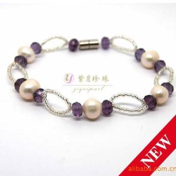 紫月珍珠天然淡水珍珠手链时尚新款