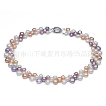 紫月珍珠天然淡水珍珠项链