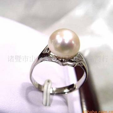 紫月珍珠天然淡水珍珠指环