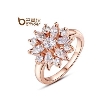 巴莫尔锆钻指环戒