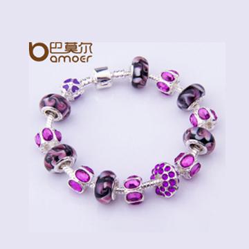 巴莫尔紫色琉璃手链