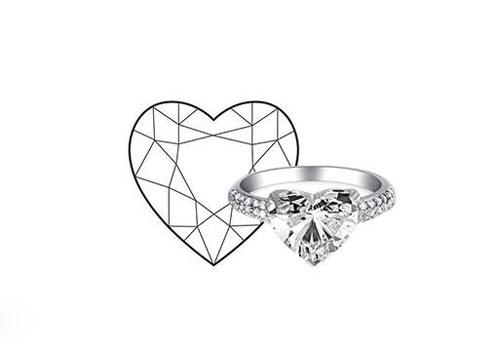 珠宝百科 钻石百科  心形切割 心形钻石:粉色浪漫的少女小甜心