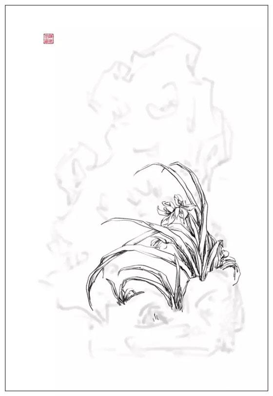 《清婉》创作手绘稿