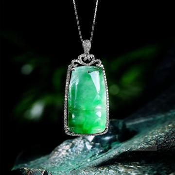藏富珠宝美观翡翠吊坠