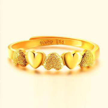 冠亚鳯祥爱心黄金戒指