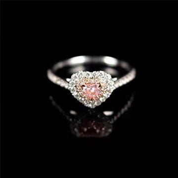 ROSEDEER(玫瑰与小鹿)粉钻戒指