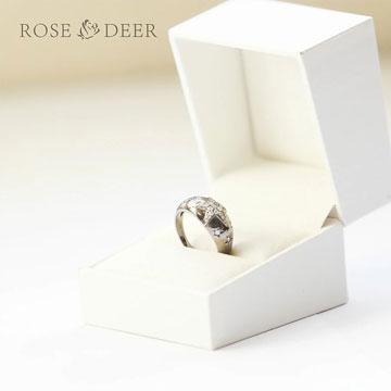 ROSEDEER(玫瑰与小鹿)镂空戒指