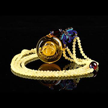 安曼博珠宝琥珀精美项链