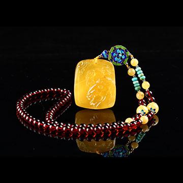 安曼博珠宝琥珀精致项链