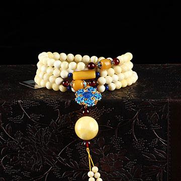 安曼博珠宝琥珀长手串